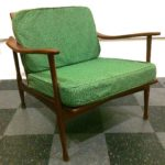 Vintage wood arm chair, made in Italy, SOLD
