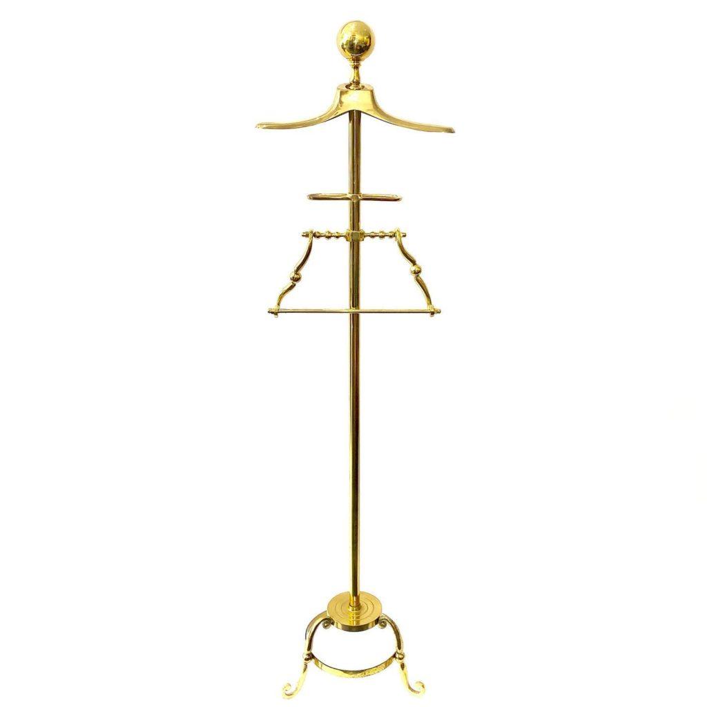 Vintage brass valet stand, $120