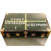 Large vintage steamer trunk, $400