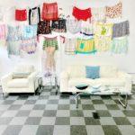 Contemporary white leather & chrome frame chair & sofa set, $1200/set