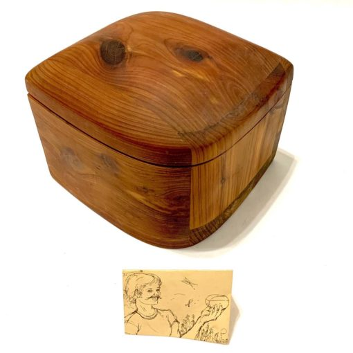Handmade lidded wood box