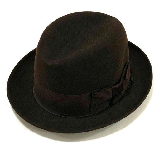 Vintage Stetson hat, deep dark brown