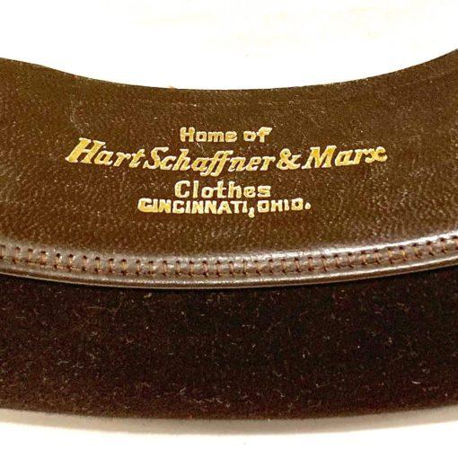 Vintage Stetson hat, deep dark brown, detail