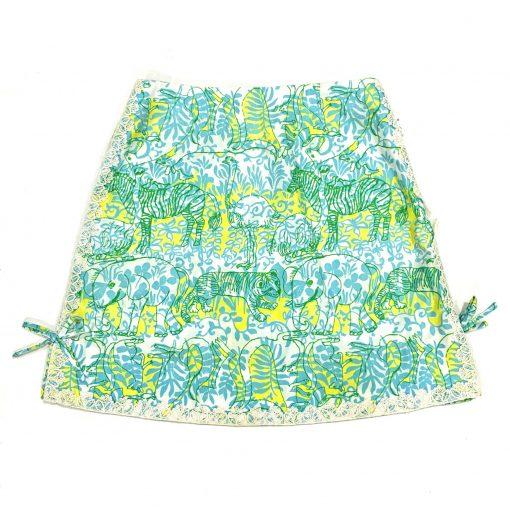 Vintage Lilly Pulitzer skirt, Safari by Zuzek Key West fabric