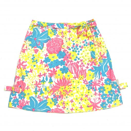 Vintage Lilly Pulitzer skirt, pink/blue/yellow floral