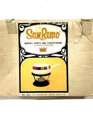 1972 San Remo fondue set, new in the box