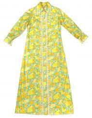 Vintage Lilly Pulitzer fruit print longsleeve maxi dress