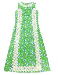 Vintage Lilly Pulitzer green & blue floral maxi dress