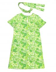 Vintage Lilly Pulitzer green & white floral dress
