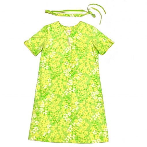 Vintage Lilly Pulitzer green & yellow floral dress