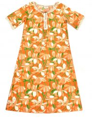 Vintage Lilly Pulitzer orange floral maxi dress