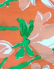 Vintage Lilly Pulitzer orange floral maxi dress, detail