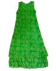 Vintage Anohki Collection green batik maxi dress