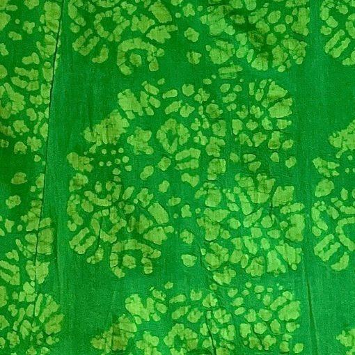 Vintage Anohki Collection green batik maxi dress, detail