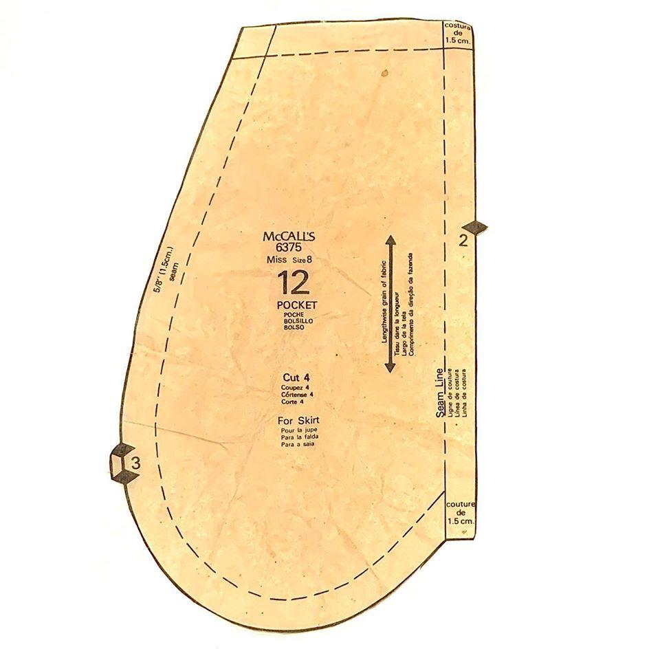 Vintage McCalls pocket pattern