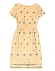 Vintage handmade embroidered linen dress