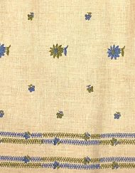 Vintage handmade embroidered linen dress, detail
