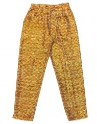Vintage Yves Saint Laurent pants, checked metallic thread pattern