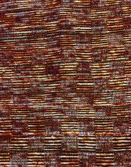 Vintage Yves Saint Laurent pants, checked metallic thread pattern, detail