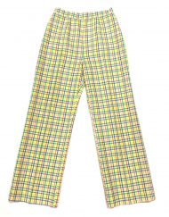 Vintage rainbow gingham high waisted pants