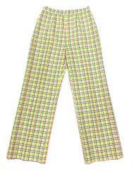 Vintage rainbow gingham high waisted pants