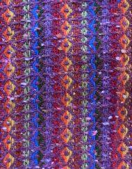 Vintage rainbow stripe woven patterned pants, detail